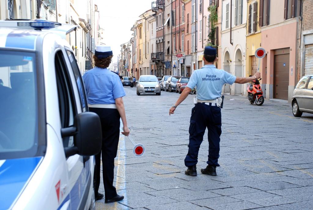 Blocco del traffico - via roma