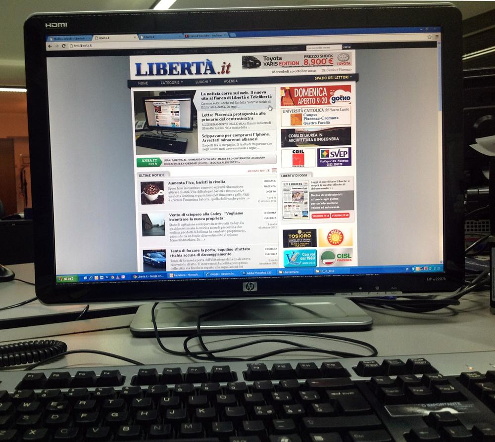 La notizia corre sul web. Il nuovo sito al fianco di Libertà e Telelibertà