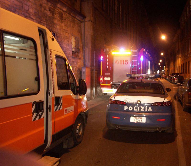 polizia ambulanza vigili del fuoco