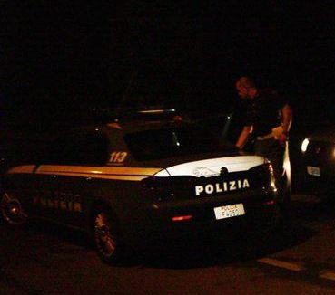 volante polizia notte