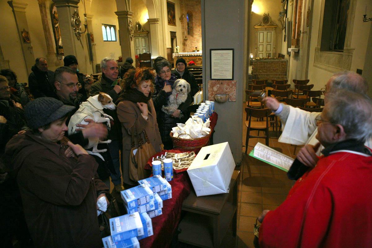 Sant'Antonio Abate, oggi benedizione degli animali nella chiesa di San Dalmazio