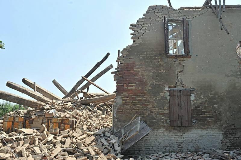 Immagine d'archivio del terremoto in Emilia del 2012