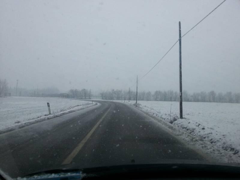Neve nel Piacentino