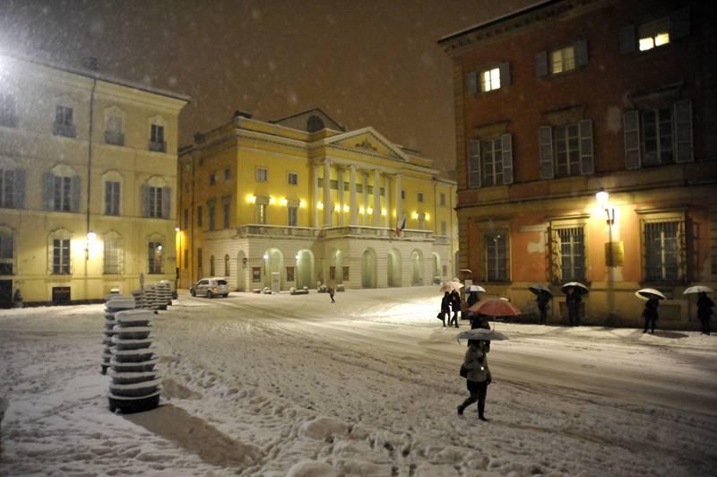 Neve in piazza Sant'Antonino