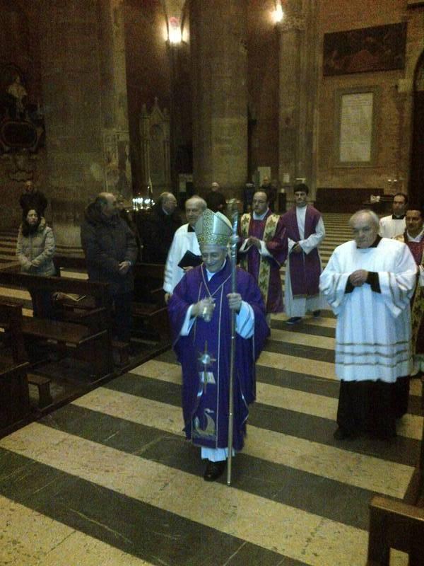 Celebrazione in Duomo, quinto anniversario del Vescovo Ambrosio