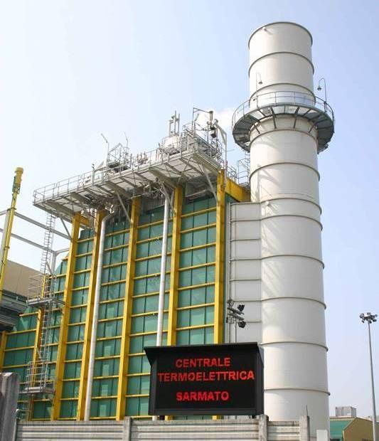 La centrale turbogas Edison di Sarmato