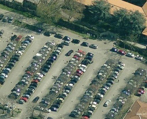 Parcheggio dell'ospedale di Piacenza