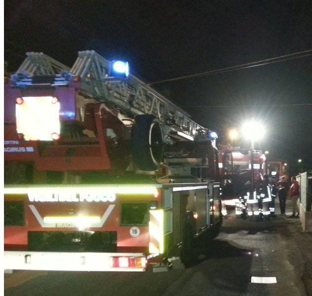 Vigili del fuoco notte sera