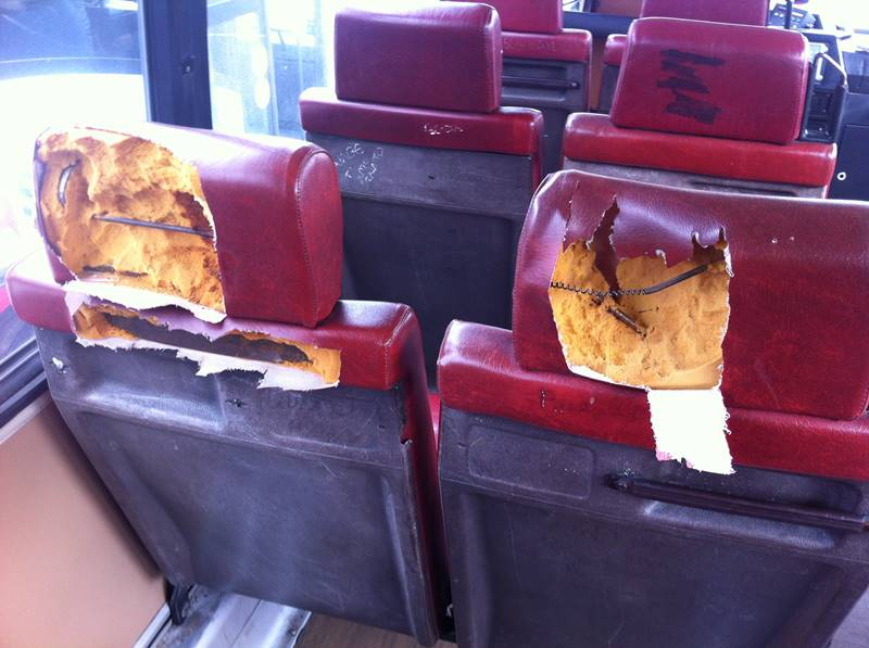 Autobus vandalizzati 24