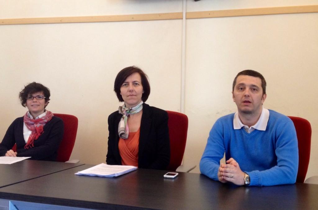Da sinistra Barbara Tarquini, Mirta Quagliaroli e Andrea Gabbiani