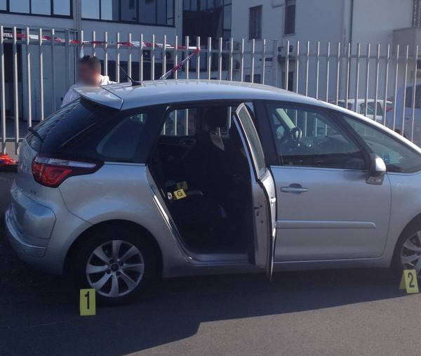 L'auto su cui era stato lasciato il piccolo Luca