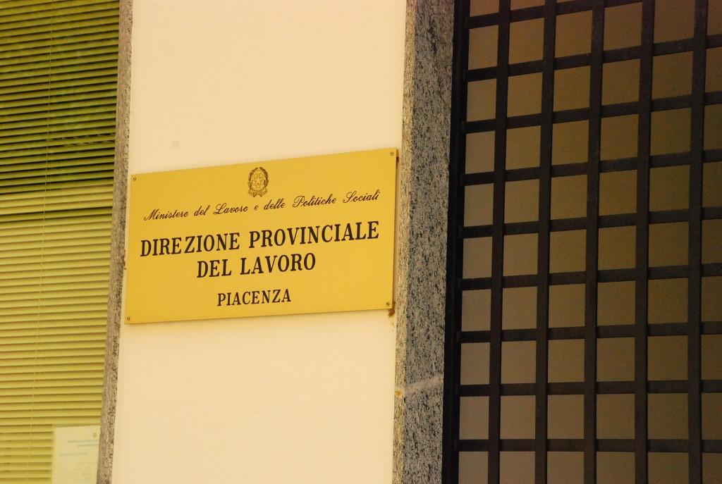 La sede della Direzione provinciale del lavoro