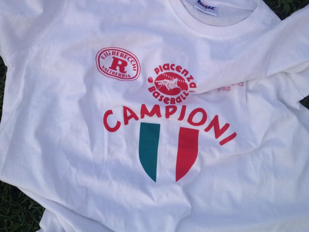 Rebecchi Nordmeccanica Baseball - Maglia celebrativa scudetto
