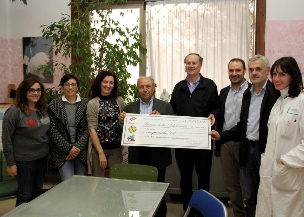 Borgonovo, donazione ad Amop