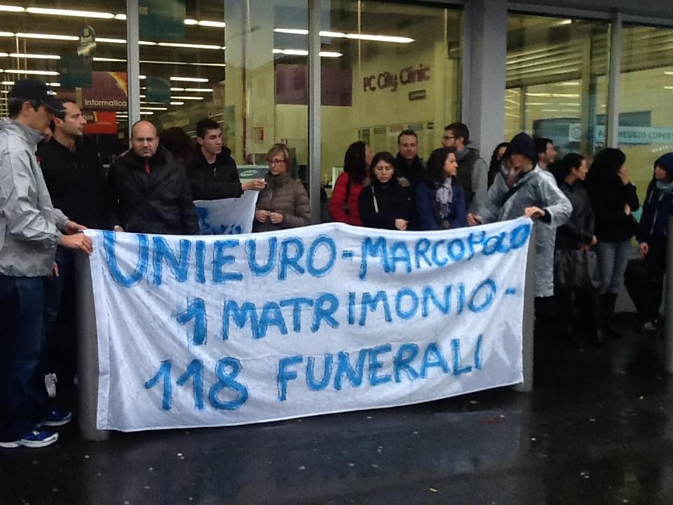 Protesta dipendenti Unieuro (3)