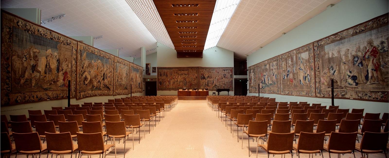 Collegio Alberoni - La sala degli arazzi (1)