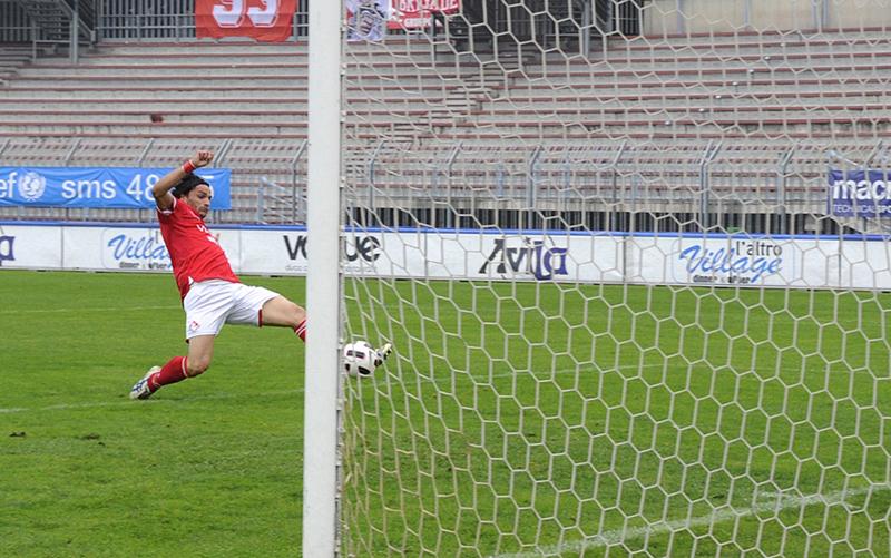 PiacenzaCalcio-Alzano Cene per P.Gentilotti (FotoDELPAPA) tiro Goal di MARRAZZO