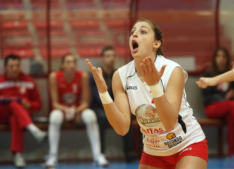 La rabbia di Eva Mazzocchi, libero di Bakery Volley