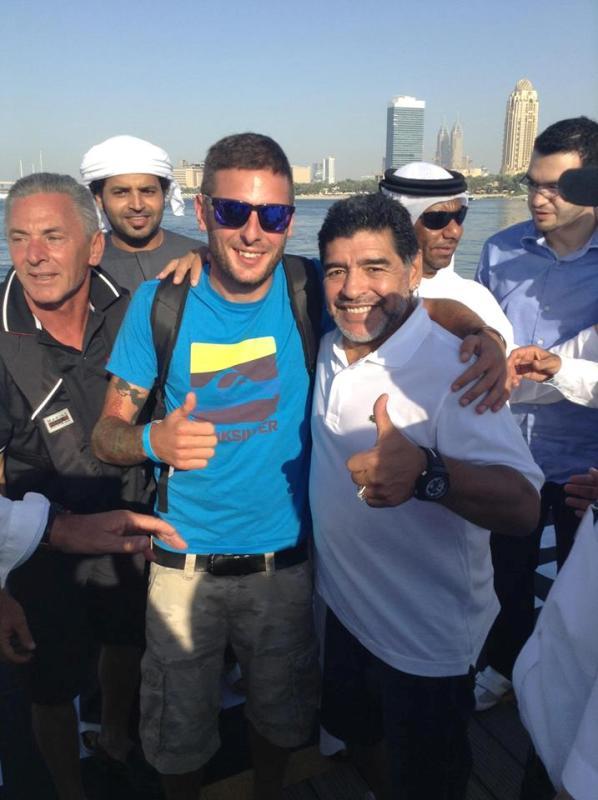 Alex Carella e Diego Armando Maradona