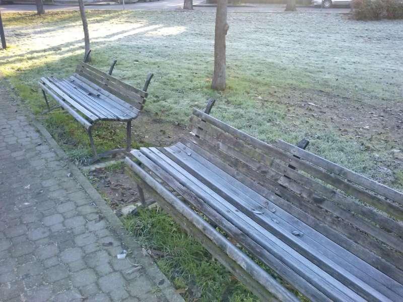 panchine in legno nei giardini pubblici-800