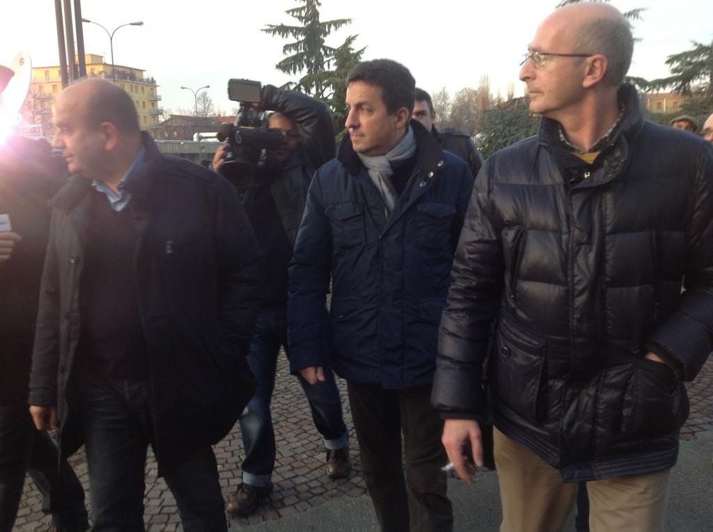Dosi, Reggi e Cacciatore in visita a Bersani