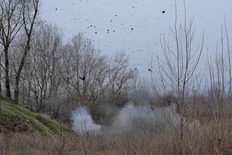 Rizzolo: gli artificieri fanno brillare una bomba aerea ritrovata in un campo