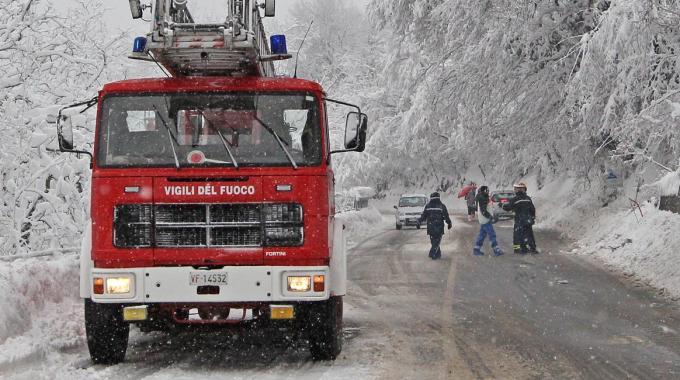 Vigili del Fuoco emergenza neve