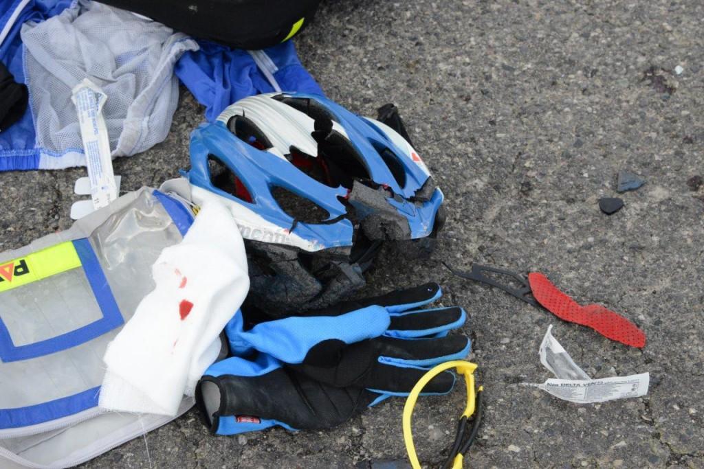 ciclista investito a san Protaso