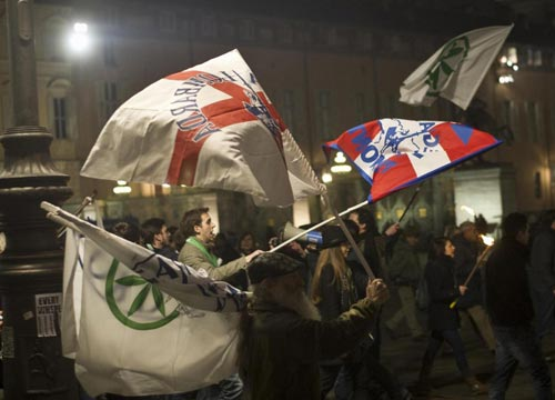 Lega, fiaccolata per la sicurezza con il segretario nazionale Matteo Salvini