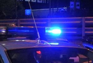 lampeggiante blu polizia