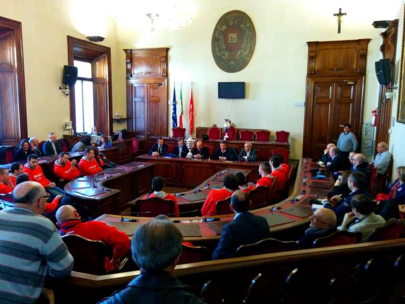 I campioni d'Italia del Copra Elior ricevuti in Municipio dal sindaco