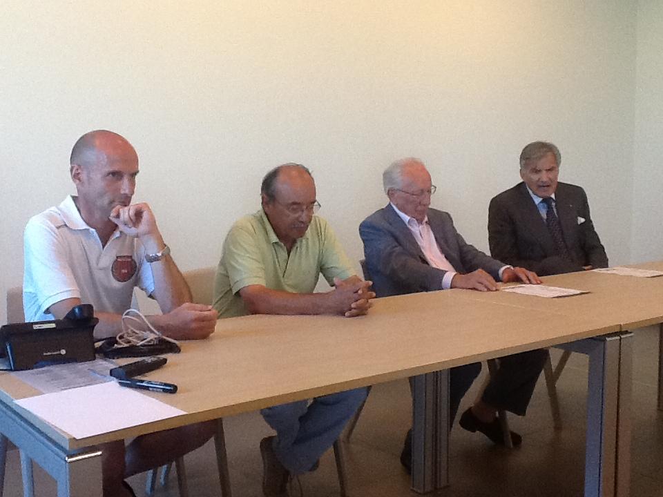 Da sinistra, Arnaldo Franzini, Riccardo Francani, Domenico Scorsetti e Bruno Giglio