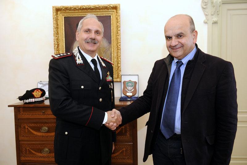 Il sindaco Dosi incontra il Gen. dei Carabinieri Antonio Ricciardi