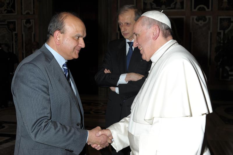 """Papa Francesco incontra Dosi:<br>""""I sindaci più vicini alla gente"""""""