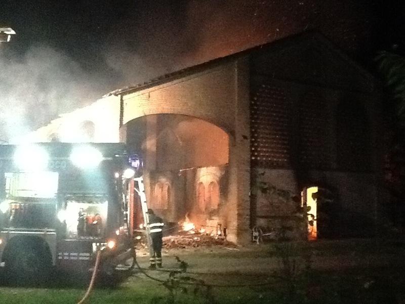 Incendio a Casaleto di Bettola