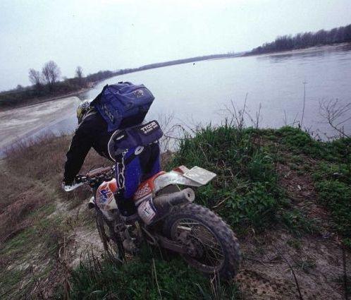 motocross lungo il Po