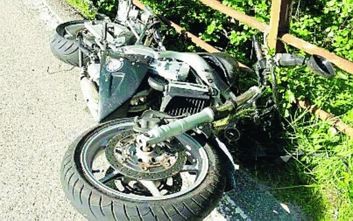 incidente in moto a Salsominore