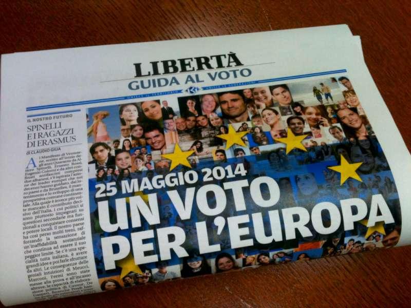 Elezioni 2014, oggi con Libertà il secondo inserto Guida al voto
