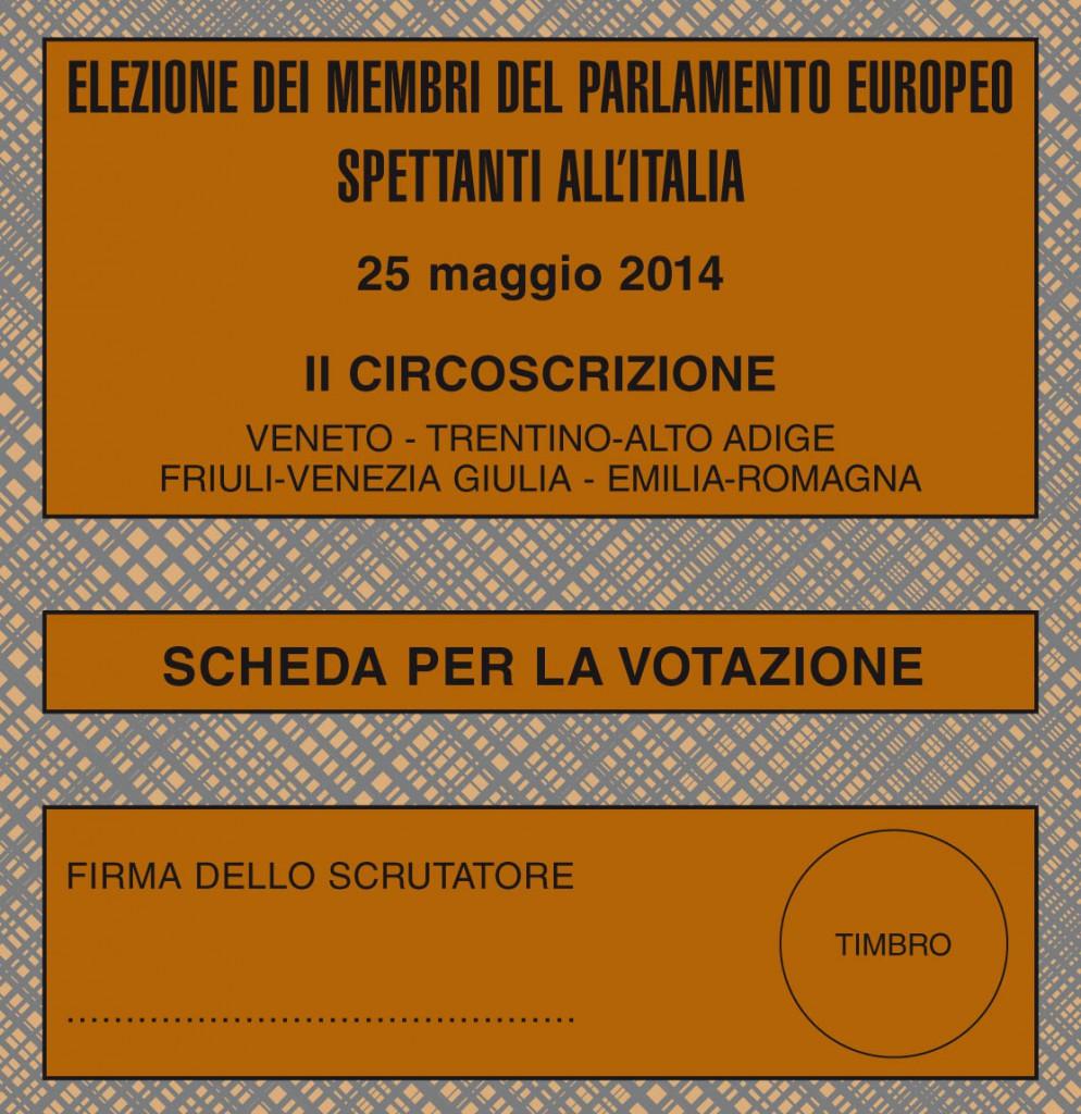 Scheda elettorale Elezioni 2014
