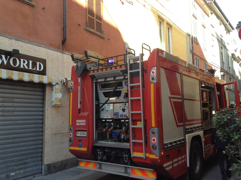 Vigili del Fuoco in via Calzolai