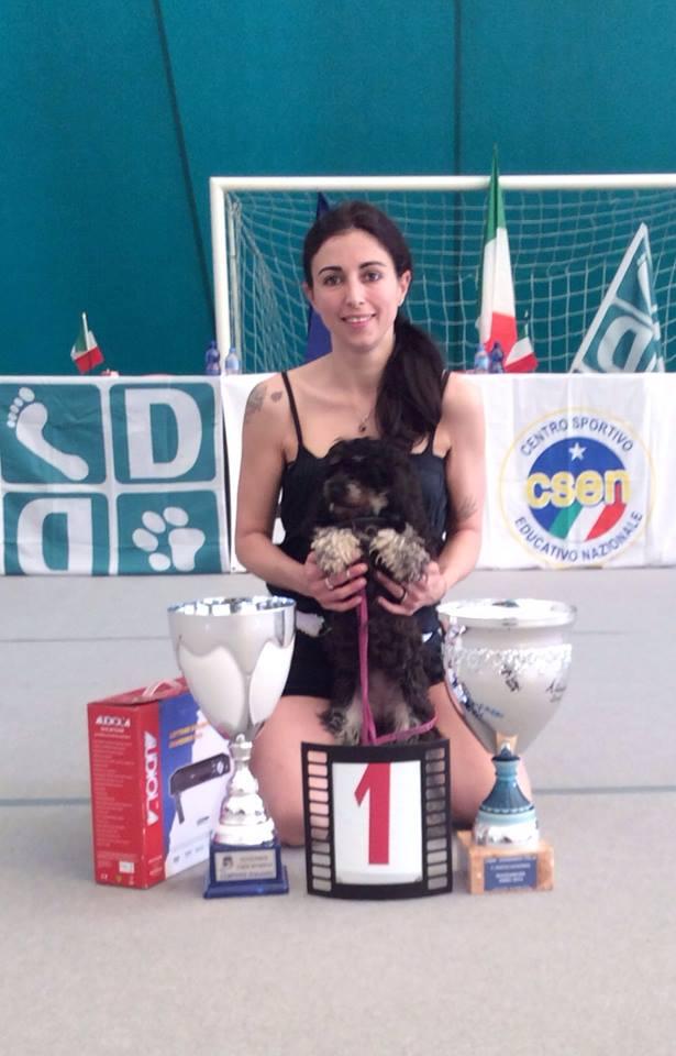 """Virginia Dallara e la sua """"Moka"""": sono campionesse d'Italia"""