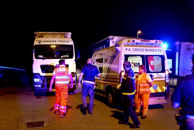 camionista deceduto a Le Mose