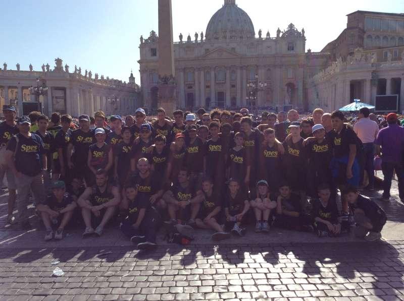 Sportivi piacentini dal Papa