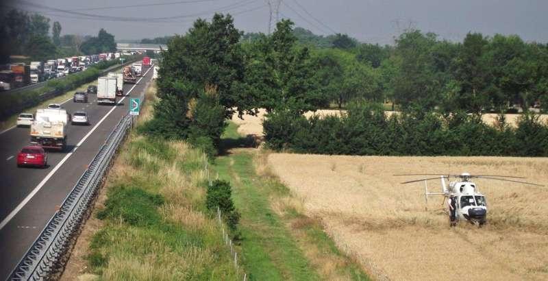 incidente in A21 a Caorso (1)