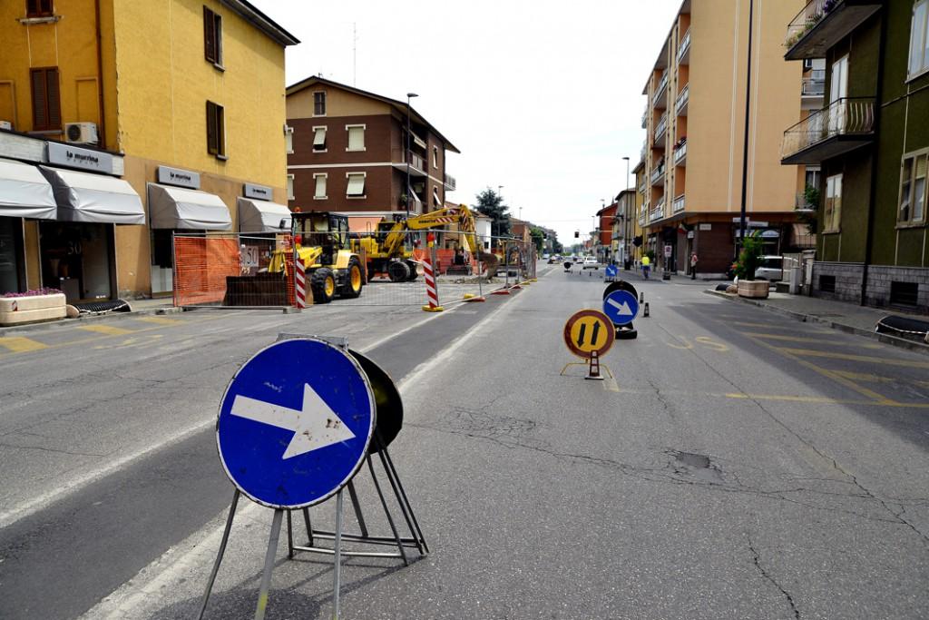 Lavori via Dante - chiusa via Corneliana