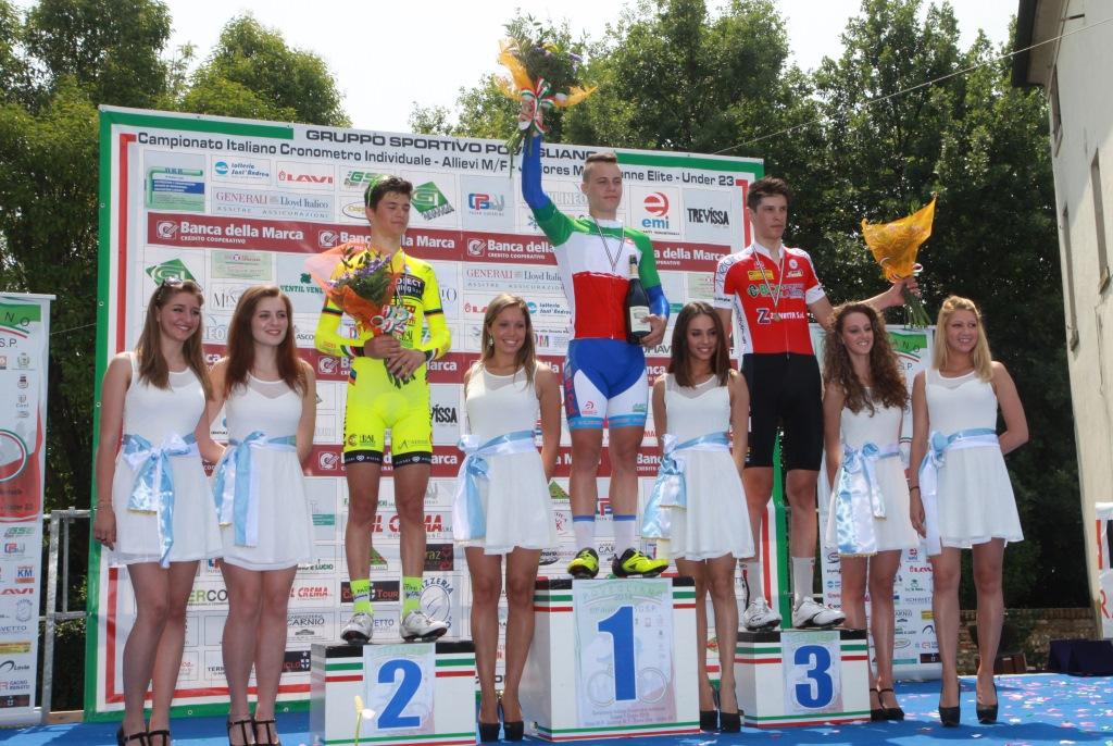 il podio della categoria Allievi con Luca Tortellotti al secondo posto