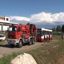 """Bus fuori strada: è solo addestramento """"ferragostano"""" dei pompieri"""