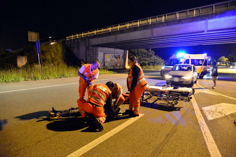 Caorsana incidente Fiat Bravo e scooter Scarabeo