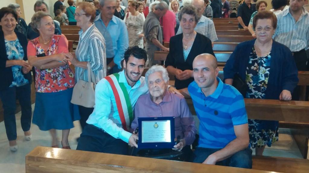 Nonna centenaria a Cortebrugnatella