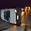 Schianto in autostrada tra un camion e un furgone, un ferito grave